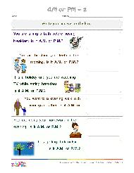 am pm clock worksheet - Free ESL printable worksheets made by teachers